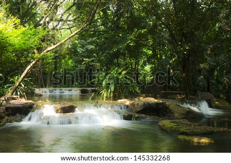 Waterfall in park  - stock photo