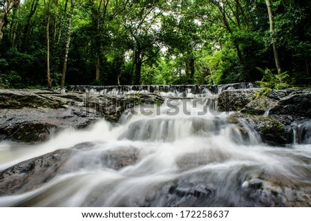 Waterfall in summer