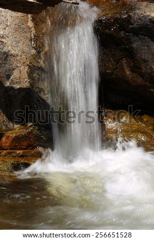 Waterfall in Thailand on Koh Samui photographed closeup