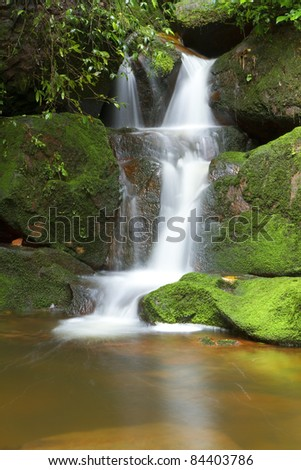 Waterfall in Thailand ,Sai Thip Waterfall at Phu Soi Dao National Park, Uttaradit, Thailand