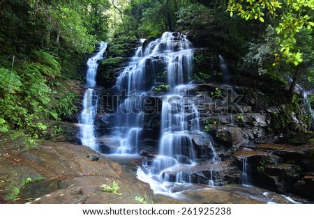 Waterfall in the Australian Blue Mountains - stock photo