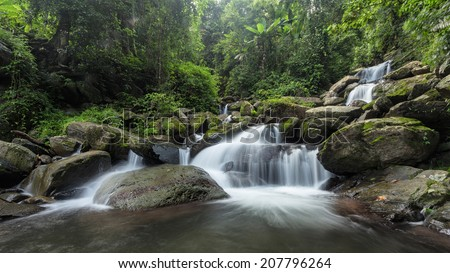 Waterfall in the forest Nan Province Thailand