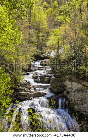 Waterfall in the forest of NC.