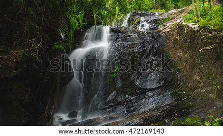 Waterfall in the middle of jungle