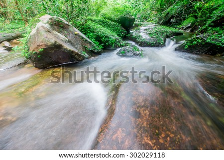 waterfall  in the tropical forest.
