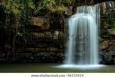 Waterfall in tropical forest, north of Thailand