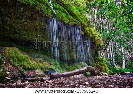 Waterfall in Wutachschlucht Valley, Black Forest, Germany - stock photo