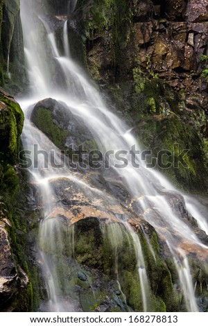 Waterfall landscape from Transylvania, Romania