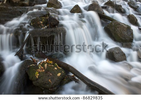 waterfall long exposition - stock photo