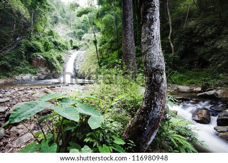 Waterfall National park,Lampang district in Northern of Thailand.