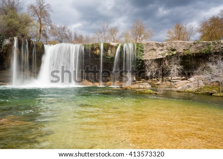 Waterfall of Pedrosa de Tobalina, Burgos (Spain)  - stock photo