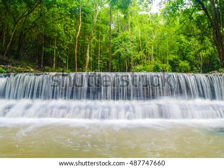 Waterfall of Thansadej - Koh Phangan National Park in Suratthani Thailand.