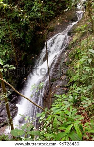 Waterfall - Osa Peninsula, Costa Rica - stock photo