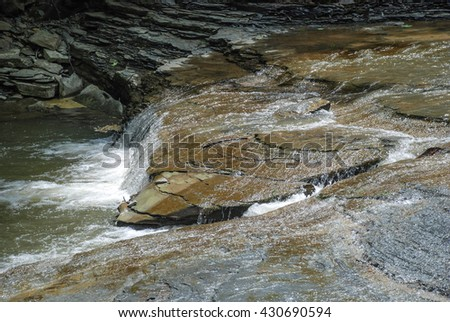 waterfall, Stony Brook State Park, New York, USA - stock photo