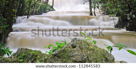 Waterfall stream in  Thailand