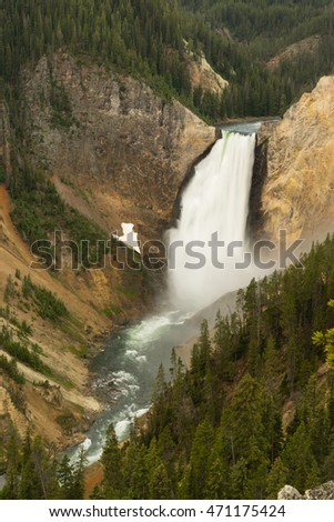 Waterfall Yellowstone National Park Wyoming United States