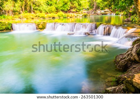 Waterfalll at Num Tok Chet Sao Noi National Park, Thailand - stock photo