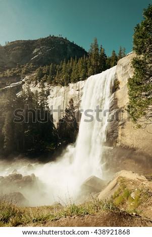 Waterfalls in Yosemite National Park in California - stock photo