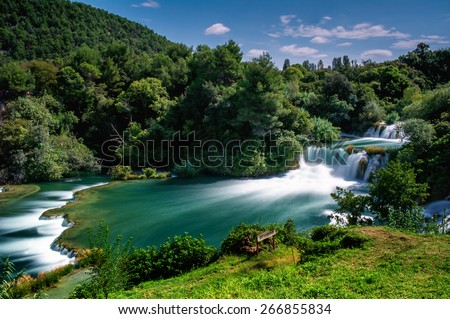 Waterfalls Krka, National Park, Dalmatia, Croatia - stock photo