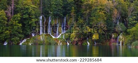 Waterfalls - Plitvice lakes - stock photo