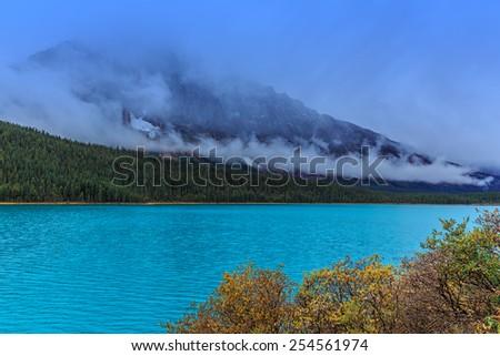 Waterfowl Lake, Alberta, Canada - stock photo