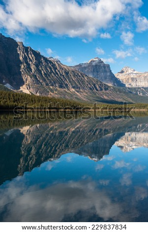 Waterfowl Lake, Banff National Park, Alberta, Canada - stock photo