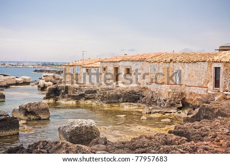 Waterfront of an ancient Italian village