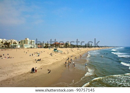 Waterfront of Venice Beach - stock photo
