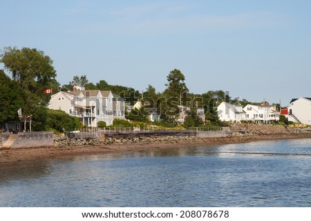 Waterfront property on the Bay of Fundy in St. Andrews, New Brunswick, Maritimes, Canada - stock photo