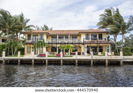 Waterfront Real Estate Fort Lauderdale Florida Stock Photo Royalty