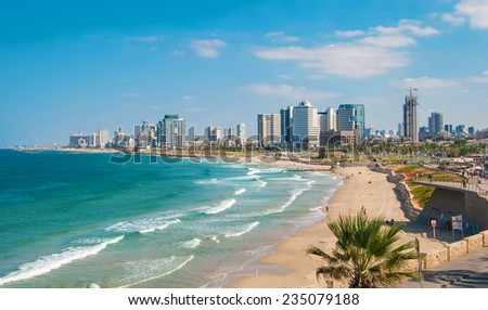 Waterfront views of Tel Aviv