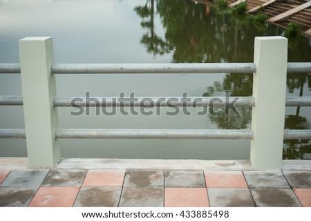 Waterfront walkway - stock photo