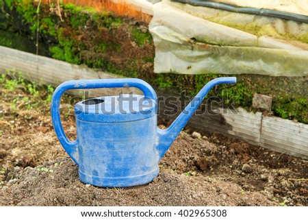 Watering can for watering plants, horticulture, crop