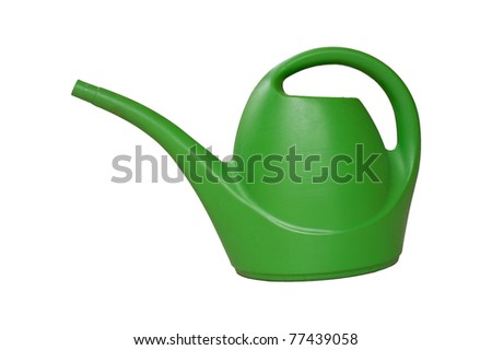 Watering can isolated - stock photo
