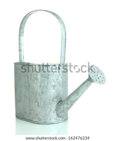 Watering can isolated on white - stock photo