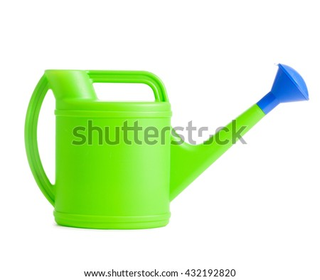 Watering can. Sprinkler isolated on white. Bailer - stock photo