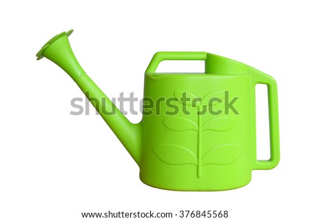 Watering / gardening can isolated on white background - stock photo