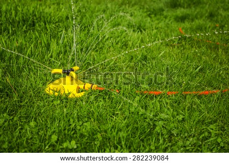 Watering grass rotation