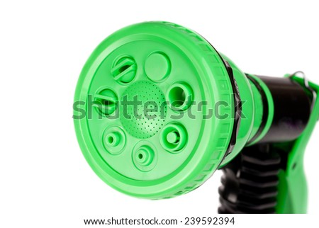 watering gun  isolated on white background  - stock photo