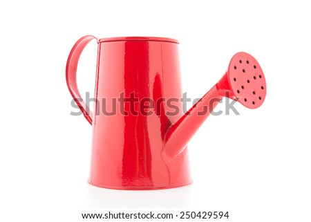 watering pot isolated on white background - stock photo