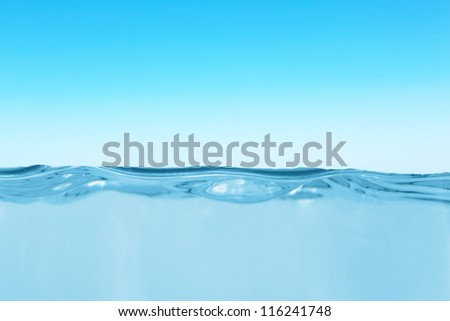 Waterline in the open water area - stock photo