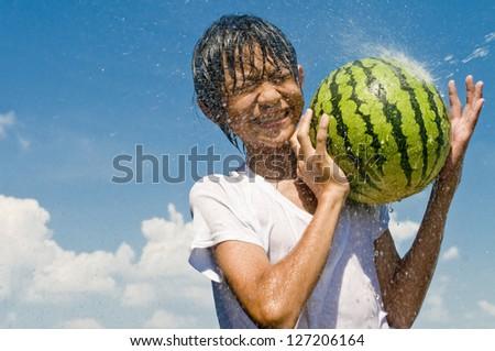 watermelon, - stock photo