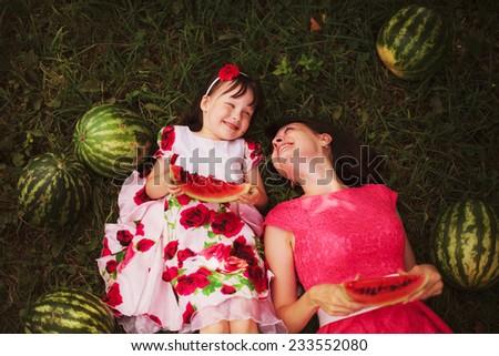 Watermelon. - stock photo