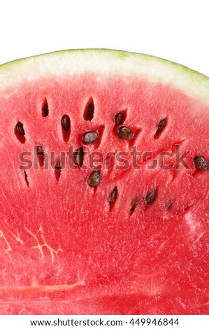 Watermelon close up with copy space
