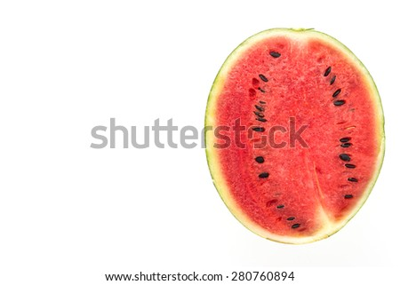 Watermelon fruit isolated on white background