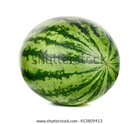Watermelon isolated on the white background .