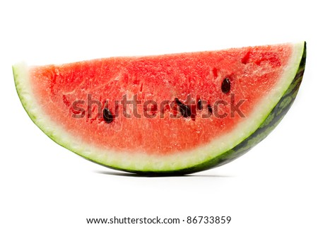 Watermelon isolated on the white background - stock photo
