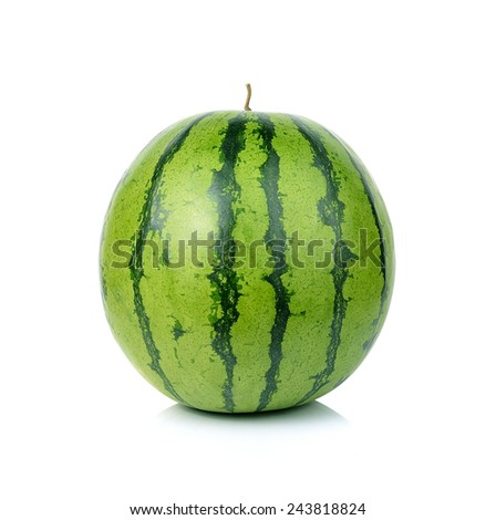 Watermelon isolated on white - stock photo