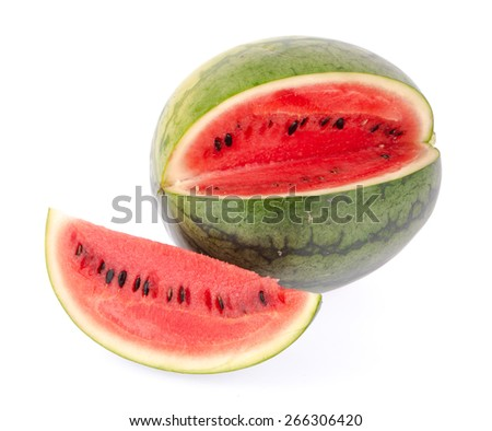 Watermelon isolated on white background - stock photo