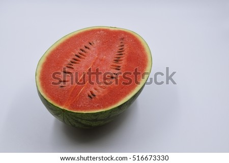 watermelon juice of fruit thai on white background